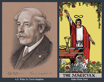 A.E. Waite. Poet, Scholarly Mystic and Freemason. Occult. Rider-Waite Tarot deck. by Travis Simpkins