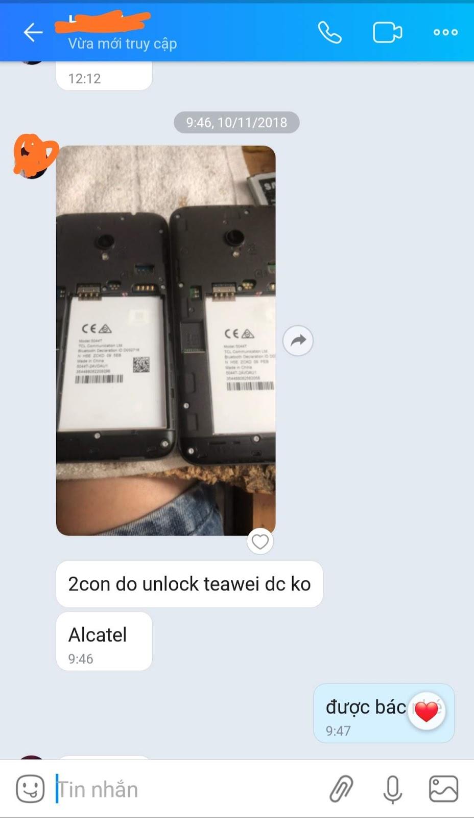 Unlock SIM Mở Mạng Alcatel U5 5044T Alcatel U5 5044T Unlock Network