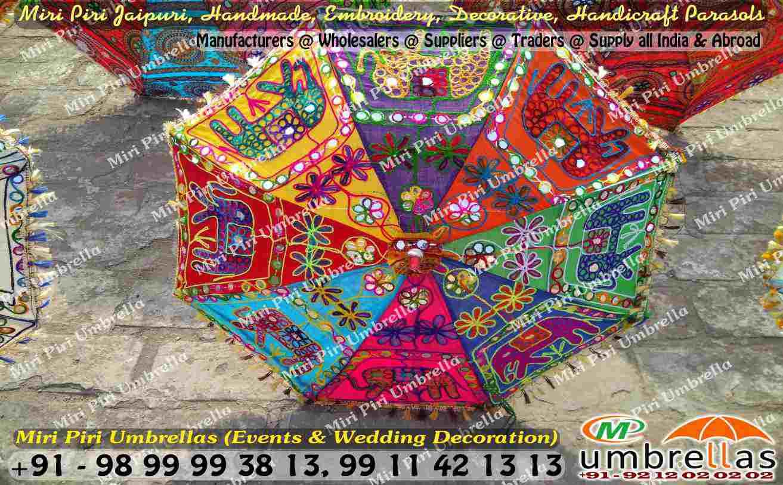 rajasthani jaipuri wedding decorative umbrellas parasols