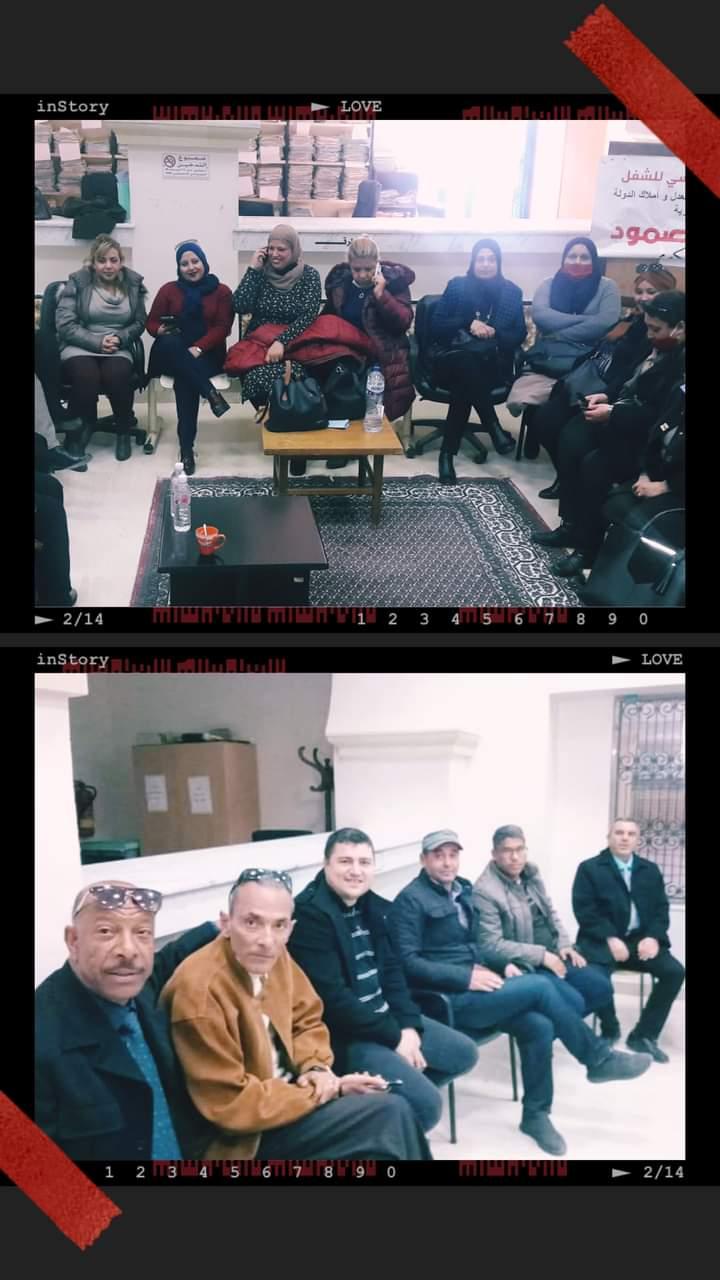 هنا نابل/ الجمهورية التونسيةلليوم الواحد والعشرين يتواصل إعتصام الصمود لأعوان العدلية