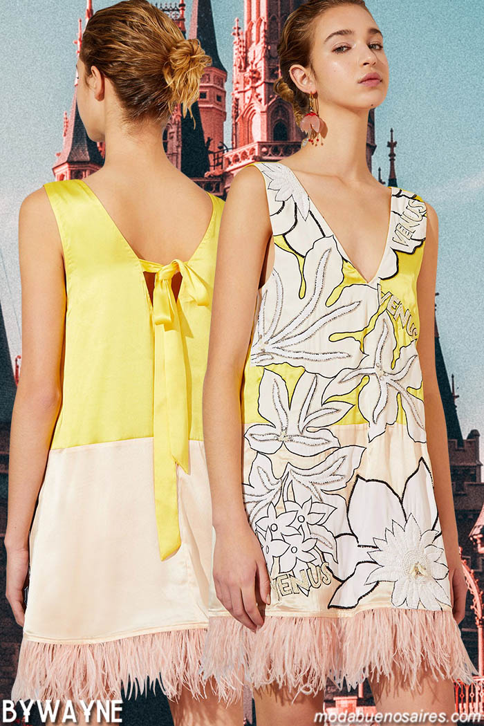 Moda vestidos cortos primavera verano 2020. Moda mujer 2020 vestidos.