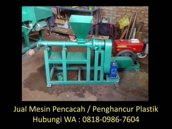 mesin penghancur plastik limbah di bandung