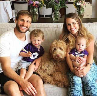 Kirk Cousins And His Lovely Wife Julie With Their Two Sons Cooper And Turner