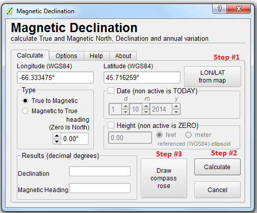 Open Source GIS Blog: QGIS vs  ArcGIS: Adding Magnetic Declination
