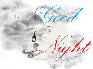 cute moon images of good night wishes