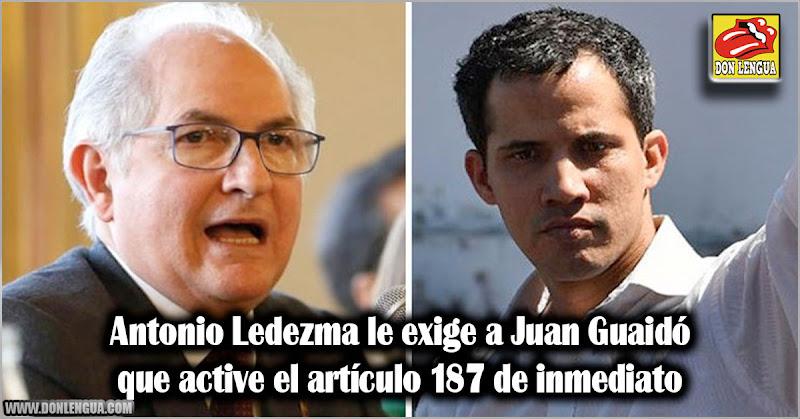 Antonio Ledezma le exige a Juan Guaidó que active el artículo 187