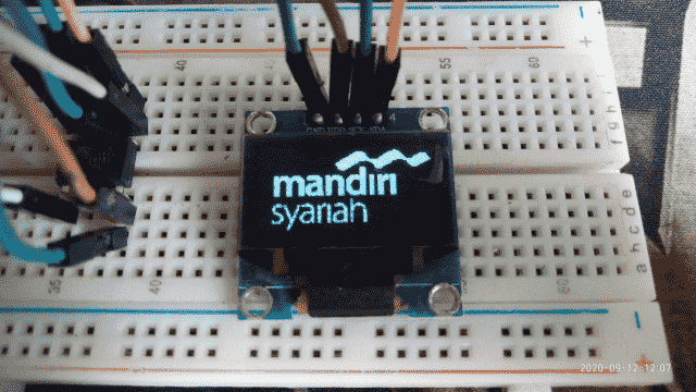 "Code Progam Arduino Schematics Rangkaian ATtiny85 128x64 OLED 0.9"" Rangkaian dan Kode Dasar Arduino"