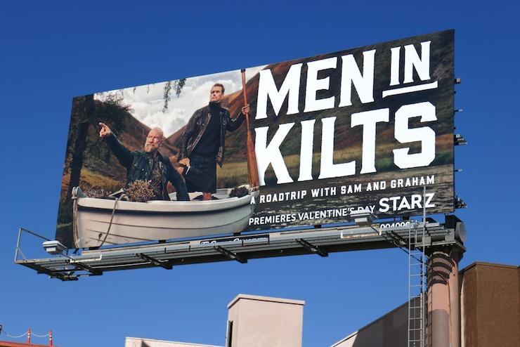 Men in Kilts series premiere billboard