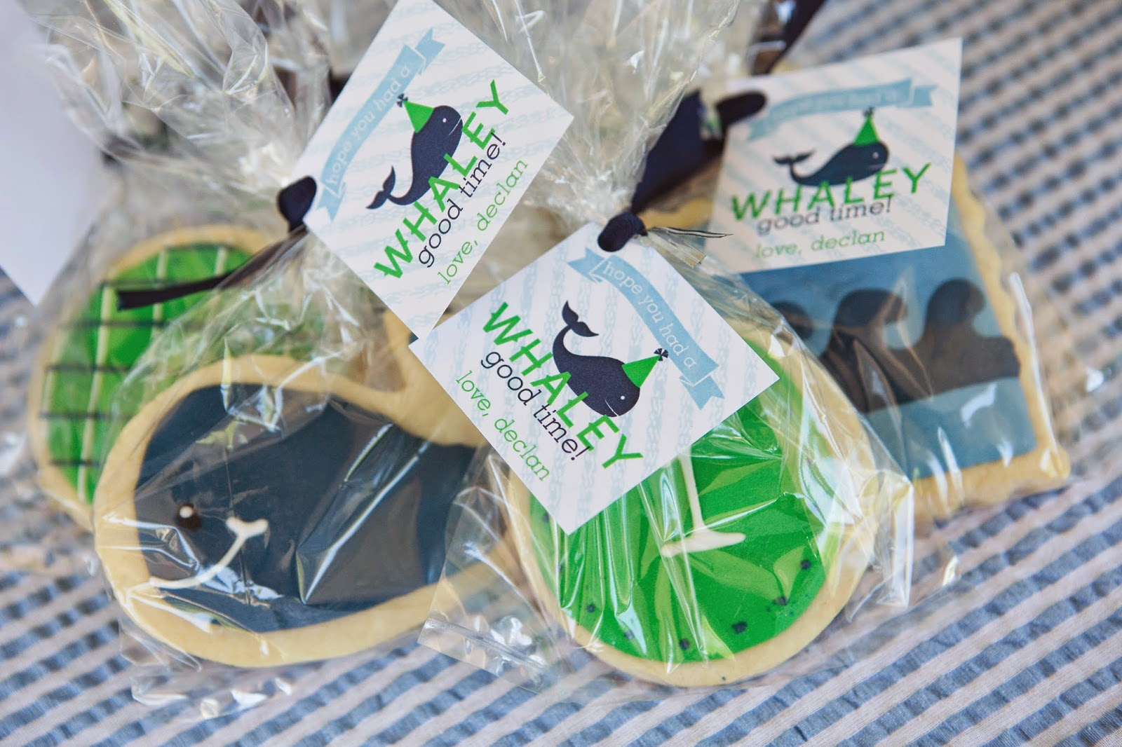 Whale Birthday Party Cookie Favors