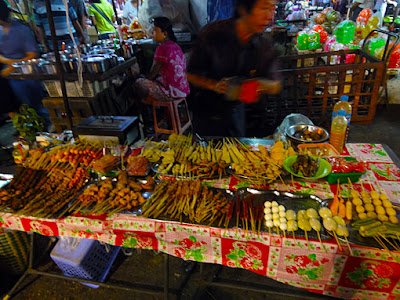 street food at Yangon 19th street and maha bandoola