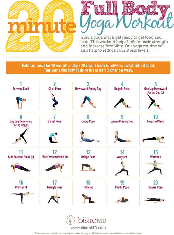 Energizing Yoga for the Body #infographic