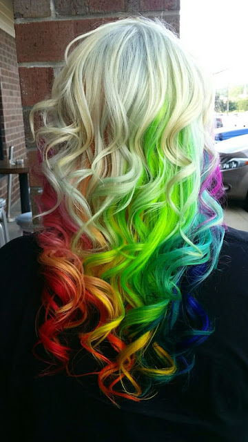 adorable rainbow hairstyles