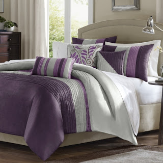 Purple bedroom ideas: Amherst 6-piece beautiful duvet