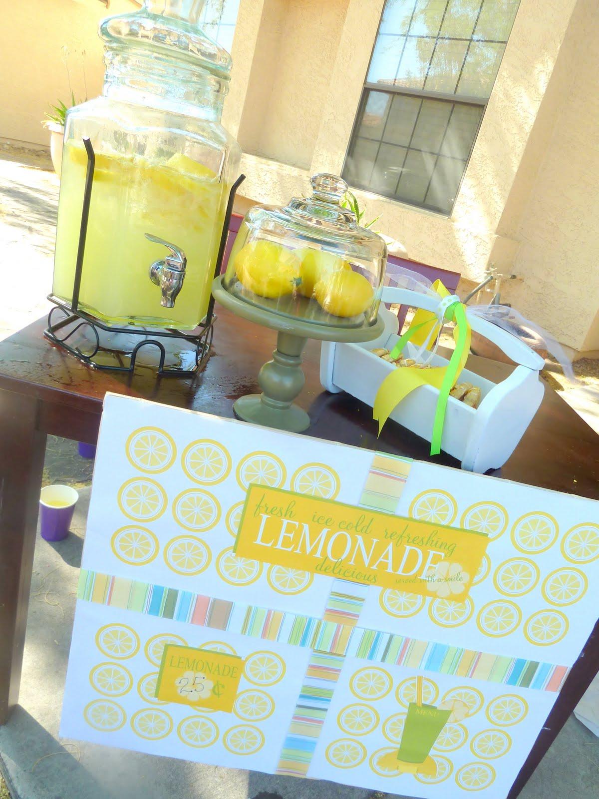 Lemonade Stand Amp Free Printables