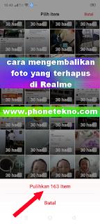 Cara mengembalikan foto yang terhapus di Hp Realme 5