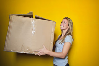 Picture of Woman with Big Box