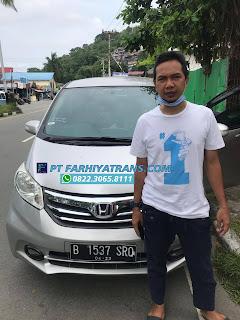 Ekspedisi FARHIYAtrans mengirim mobil Honda Freed dari Jakarta tujuan ke Balikpapan dengan kapal roro dan driving, estimasi perjalanan 6 hari..