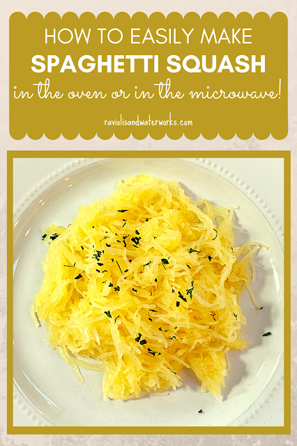 how to cook spaghetti squash in the oven or the microwave