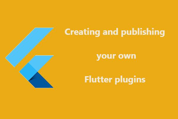 Flutter - Publish plugins and packages ~ Developer Libs