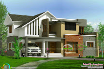 2450 Sq-ft Home Modern Style - Kerala Design And