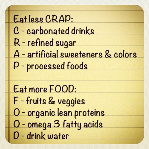 how to stop eating crap
