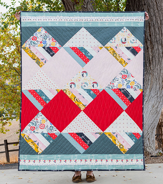 Waffle Cone Quilt Free Pattern Designed by Suzy Williams.