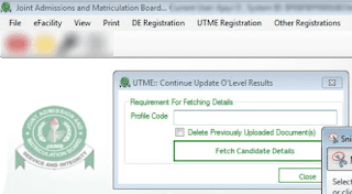 utme uploading of ssce result