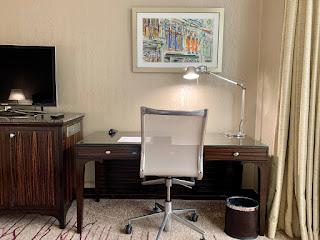 Work desk, Sheraton Towers Singapore, 2021