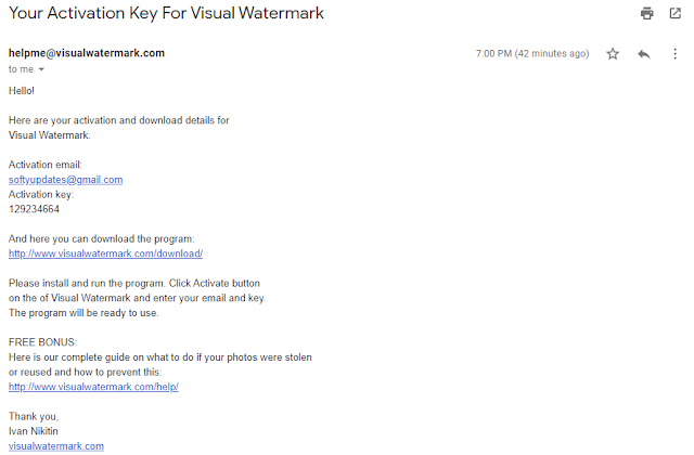 Giveaway Visual Watermark Free License for a Year