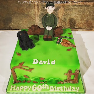 country shooting cake
