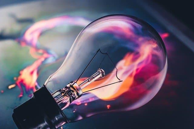 light bulb energy color