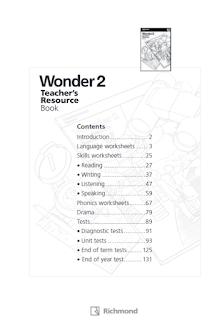 WONDER 2 TEACHER'S RESOURCE