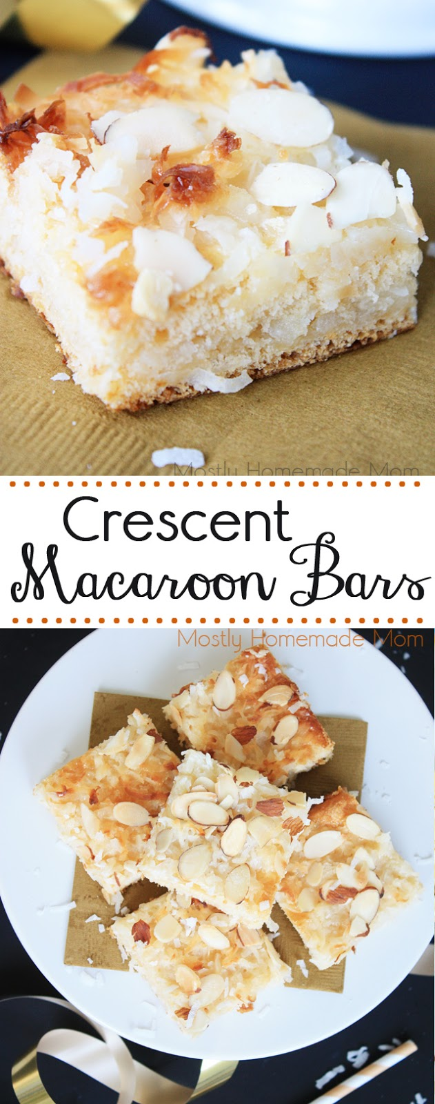 Crescent Coconut Macaroon Bars