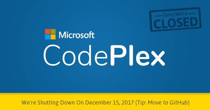 codeplex-microsoft-github