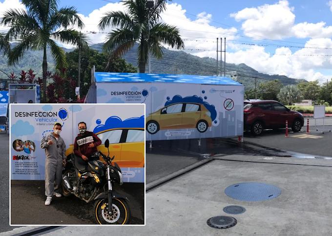 Hinchas del DEPORTES TOLIMA crean novedoso sistema desinfección vehicular para toda Colombia