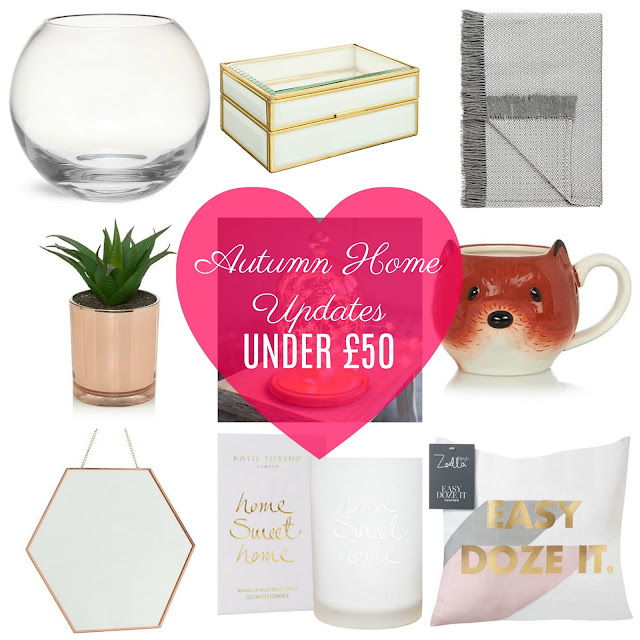 Autumn Homeware Updates for under £50