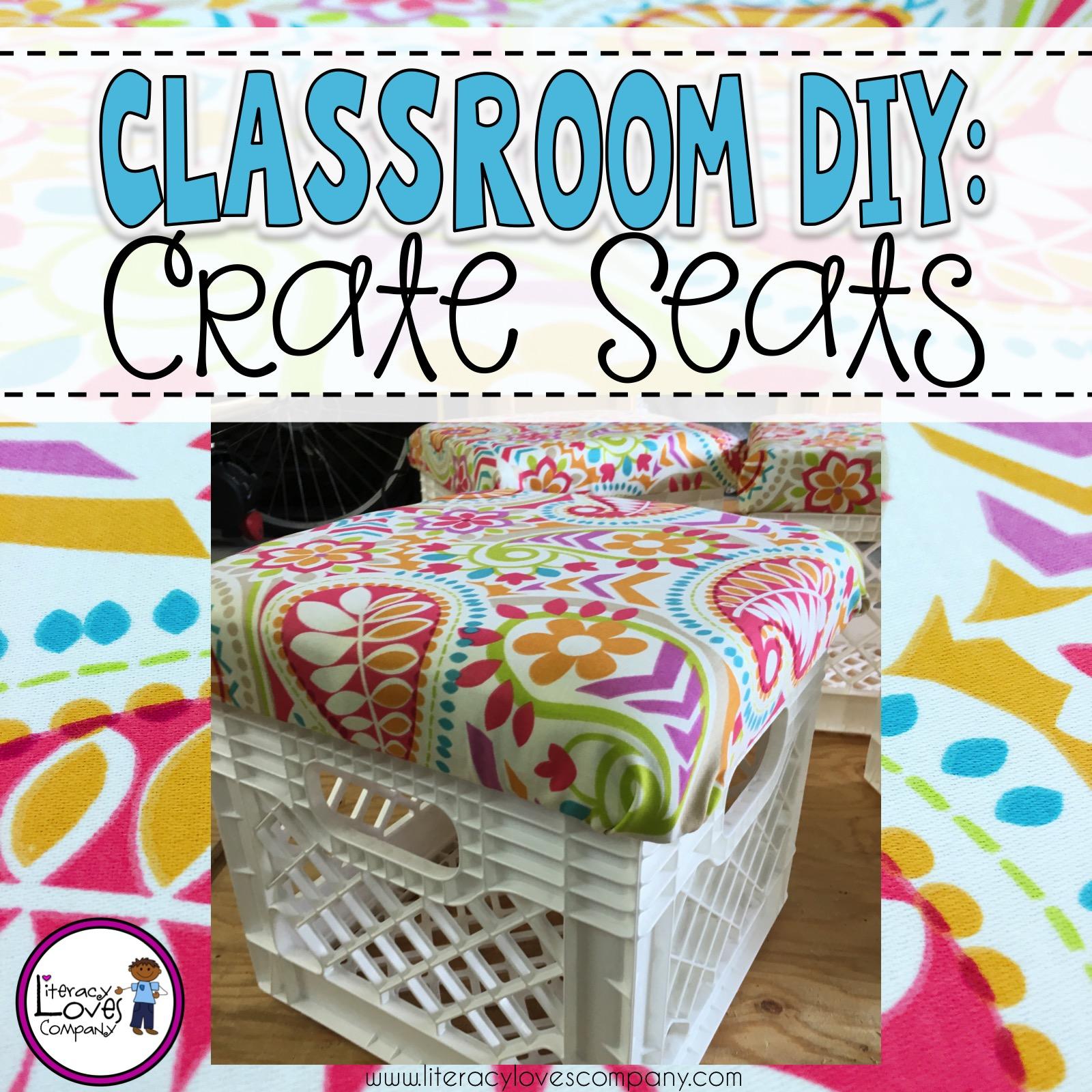 classroom diy crate seats