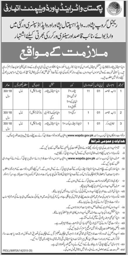 Advertisements for WAPDA and Power Development Authority Jobs