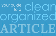Create a Clean and Organized Article