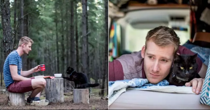 The Man Who Quits Job and Sells Everything He Owns Just to Travel With His Cat