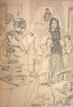 Обшук у батьків Лесі вдома, малюнок