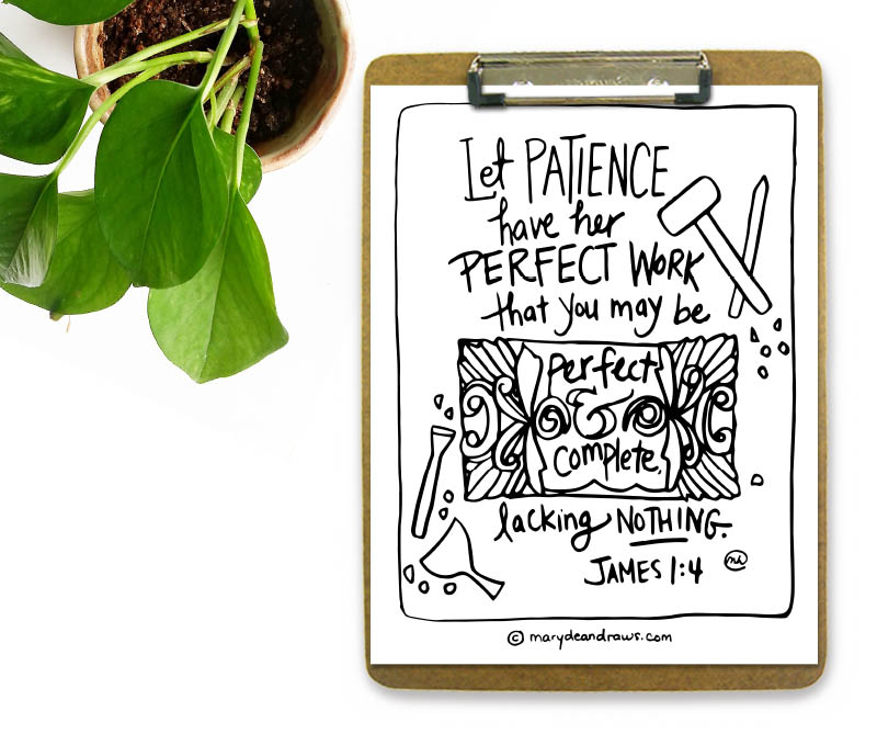 James 14 Bible Verse Coloring Page Let Patience Have Her Perfect Work That