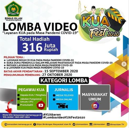 [GRATIS] Lomba Video Nasional 2020 KUA Fest 2020