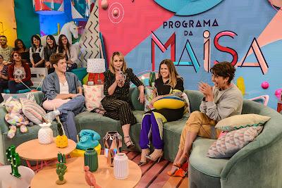 João, Gabriela Spanic, Maisa e Fernanda Paes Leme (Foto: João Raposo/SBT)