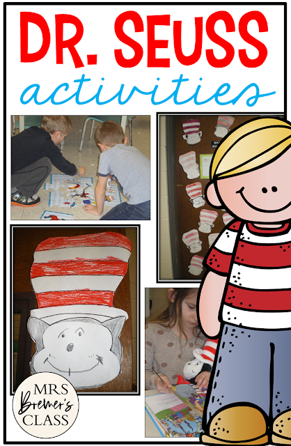 Dr. Seuss activities for Kindergarten and First Grade