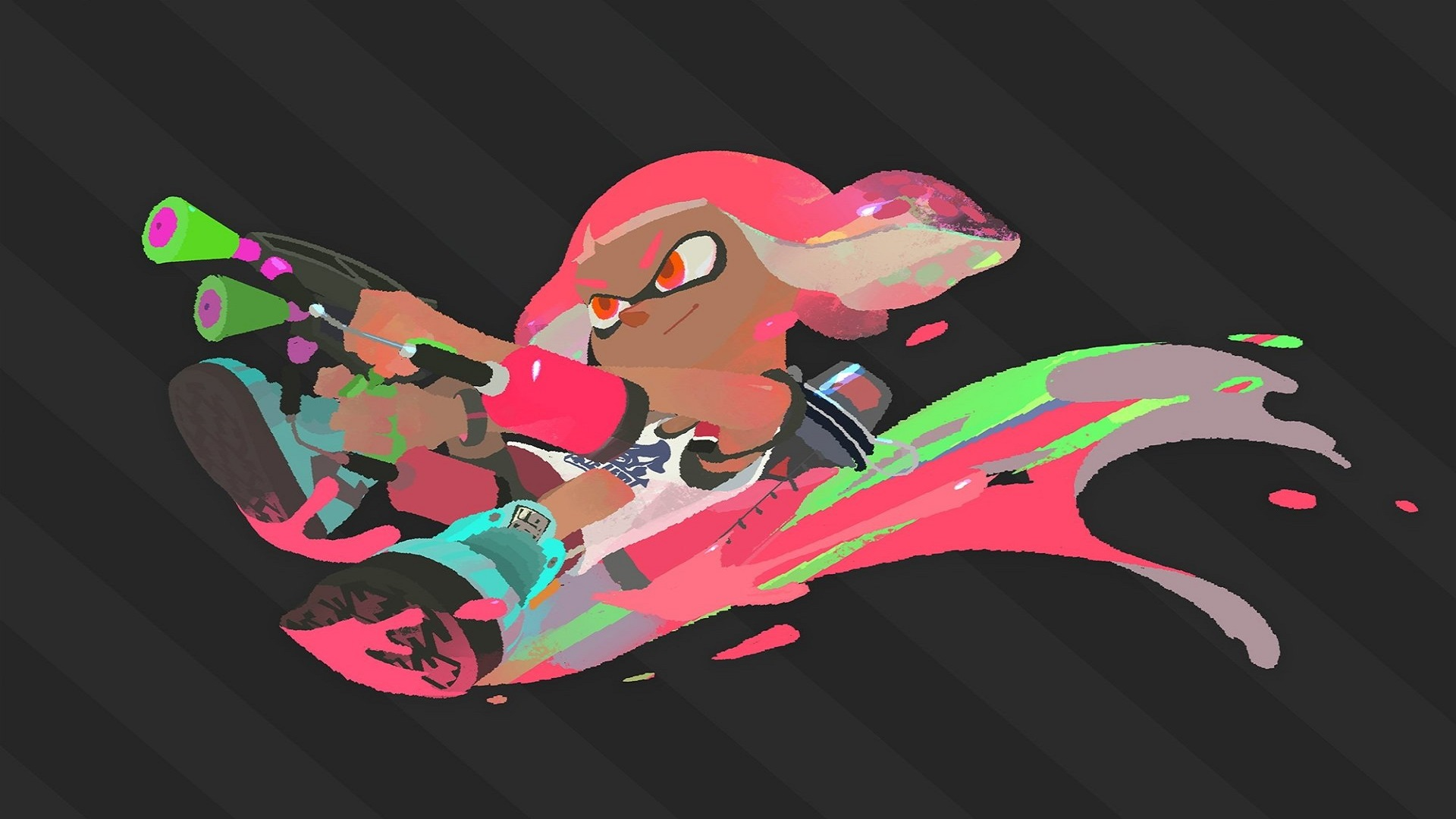 Download Splatoon 2 HD Wallpapers 1920x1080 - Read games review, play online games & download ...