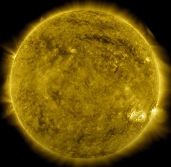 Picture shows a decade of the sun in a nasa video.