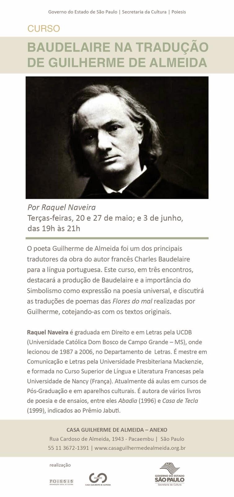 Curso Baudelaire Na Tradução De Guilherme De Almeida
