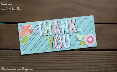 Blossom Slimline Thank You Card