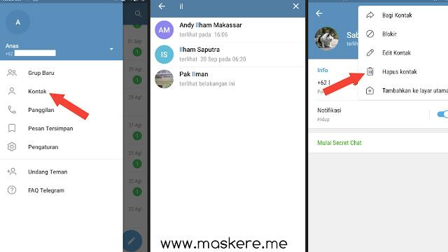 Cara Menghapus Kontak Telegram di HP Android/iPhone (iOS)